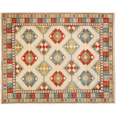 Ersari Hand-Knotted Multicolor Area Rug