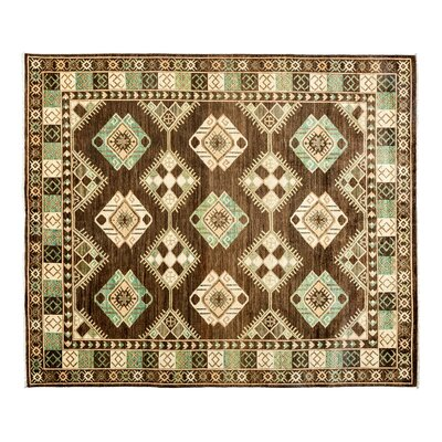 One-of-a-Kind Ersari Hand-Knotted Brown Area Rug