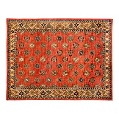 One-of-a-Kind Ersari Hand-Knotted Orange Area Rug