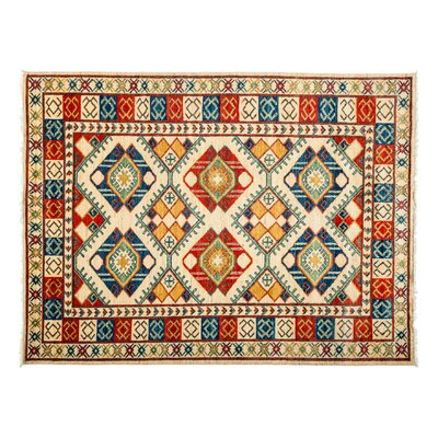 Ersari Hand-Knotted Red Area Rug