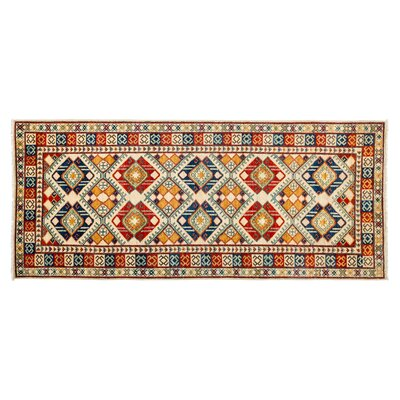 One-of-a-Kind Ersari Hand-Knotted Red Area Rug