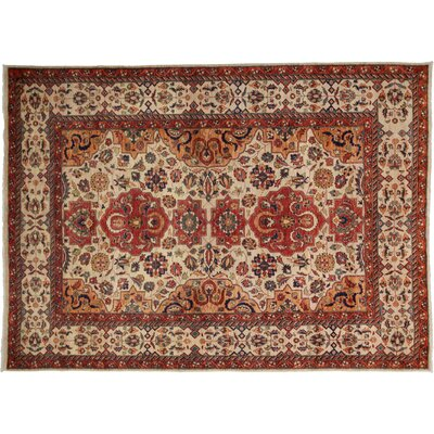 Farahan Hand-Knotted Red Area Rug