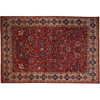 One-of-a-Kind Farahan Hand-Knotted Red Area Rug