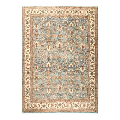 One-of-a-Kind Fine Ghazni Hand-Knotted Blue Area Rug