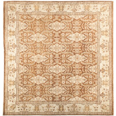 One-of-a-Kind Fine Ghazni Hand-Knotted Brown Area Rug