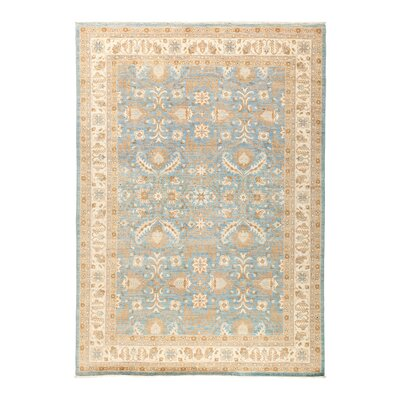 Fine Ghazni Hand-Knotted Blue Area Rug