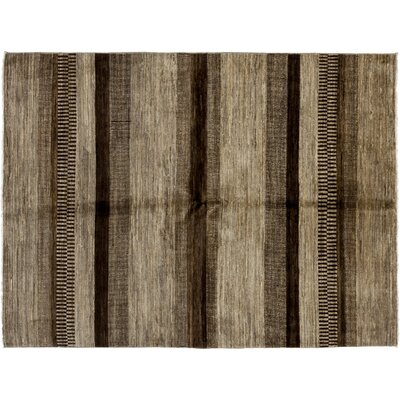 One-of-a-Kind Gabbeh Hand-Knotted Brown Area Rug
