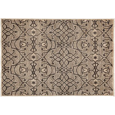 One-of-a-Kind Gabbeh Hand-Knotted Beige Area Rug