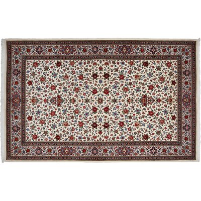 One-of-a-Kind Ghoum Hand-Knotted Ivory Area Rug