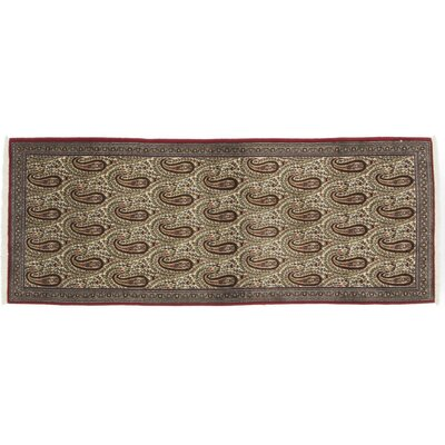 Ghoum Hand-Knotted Brown Area Rug