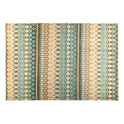 Ikat Hand-Knotted Blue Area Rug