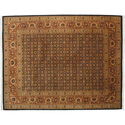 One-of-a-Kind Herat Hand-Knotted Beige Area Rug