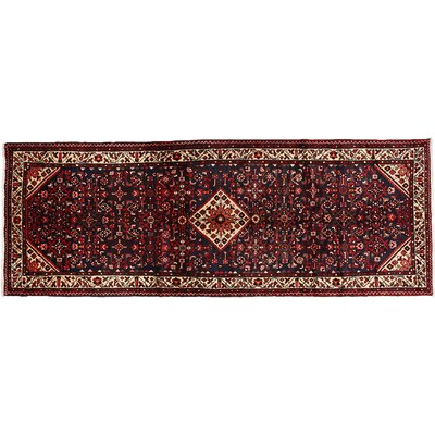 One-of-a-Kind Hamadan Hand-Knotted Red Area Rug