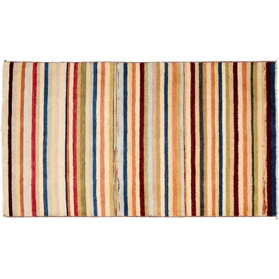 One-of-a-Kind Gabbeh Hand-Knotted Multicolor Area Rug
