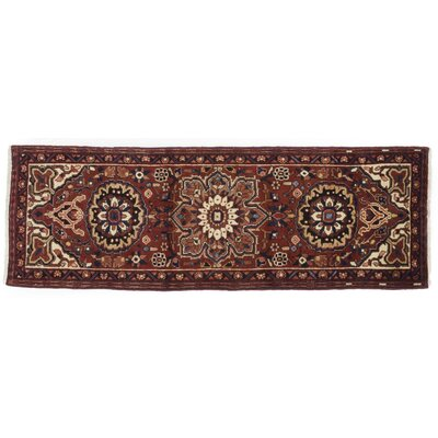One-of-a-Kind Heriz Hand-Knotted Red Area Rug