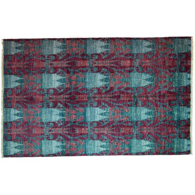 Ikat Hand-Knotted Multicolor Area Rug