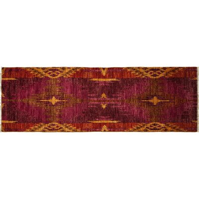 One-of-a-Kind Ikat Hand-Knotted Multicolor Area Rug