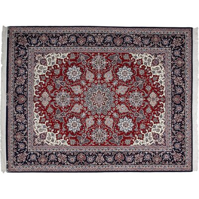 Isfahan Hand-Knotted Red Area Rug