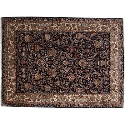 Kashmar Hand-Knotted Black Area Rug
