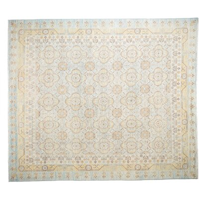 One-of-a-Kind Khotan Hand-Knotted Blue Area Rug
