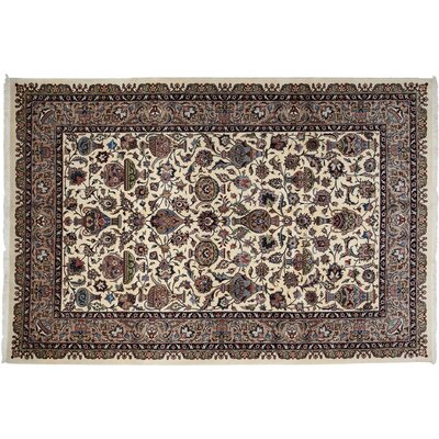 One-of-a-Kind Kashmar Hand-Knotted Ivory Area Rug