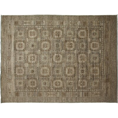 Khotan Hand-Knotted Gray Area Rug