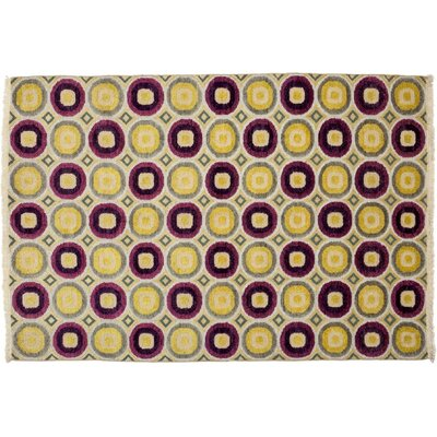 Kilim Hand-Knotted Yellow Area Rug