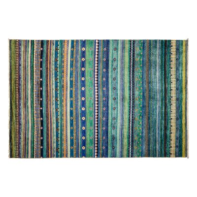 One-of-a-Kind Lori Hand-Knotted Blue Area Rug