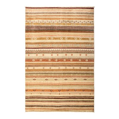 One-of-a-Kind Lori Hand-Knotted Beige Area Rug