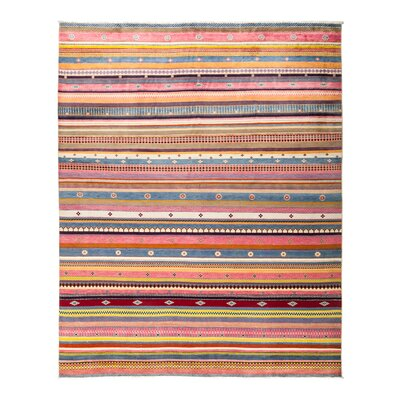 One-of-a-Kind Lori Hand-Knotted Multicolor Area Rug