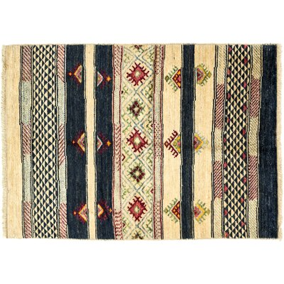 One-of-a-Kind Marrakesh Hand-Knotted Beige Area Rug