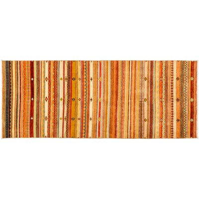 One-of-a-Kind Lori Hand-Knotted Orange Area Rug