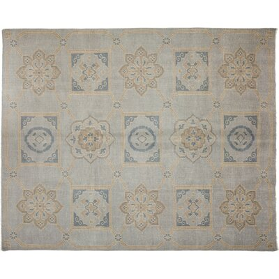 One-of-a-Kind Modern Hand-Knotted Blue Area Rug