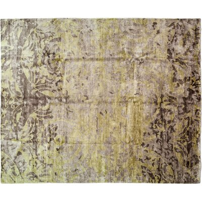 Modern Hand-Knotted Brown Area Rug