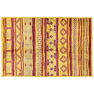 One-of-a-Kind Marrakesh Hand-Knotted Yellow Area Rug
