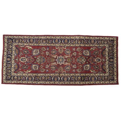 One-of-a-Kind Mashad Hand-Knotted Red Area Rug