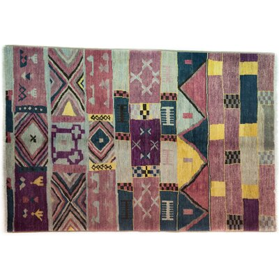One-of-a-Kind Marrakesh Hand-Knotted Purple Area Rug
