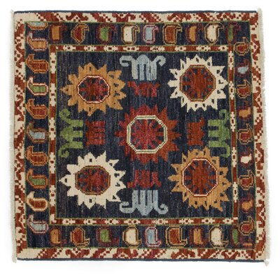 One-of-a-Kind Modern Hand-Knotted Multicolor Area Rug