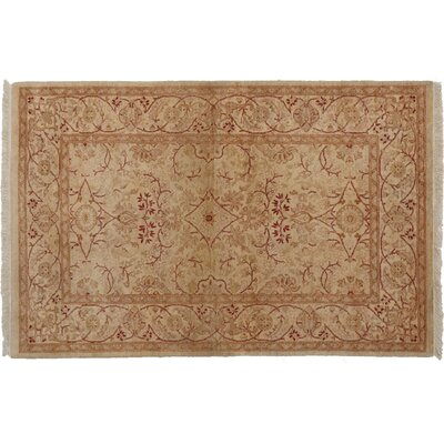 One-of-a-Kind Mogul Hand-Knotted Beige Area Rug