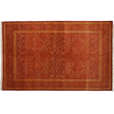 One-of-a-Kind Mogul Hand-Knotted Red Area Rug