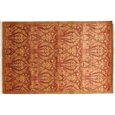 One-of-a-Kind Mogul Hand-Knotted Orange Area Rug