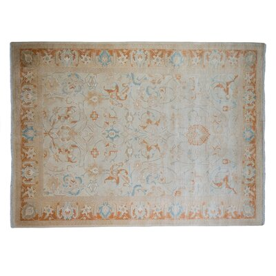 One-of-a-Kind Mogul Hand-Knotted Ivory Area Rug