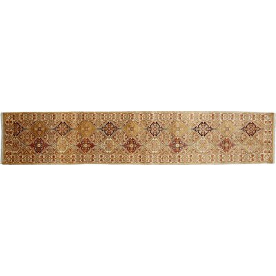 Mogul Hand-Knotted Beige Area Rug