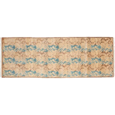 Mogul Hand-Knotted Brown Area Rug