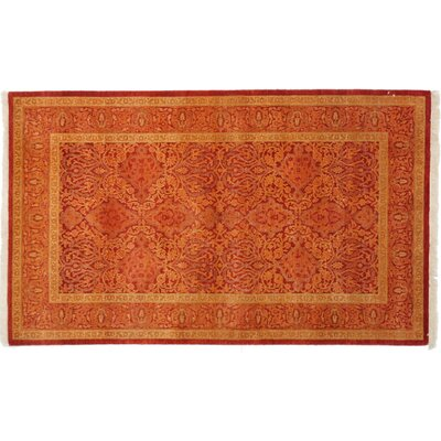 Mogul Hand-Knotted Red Area Rug