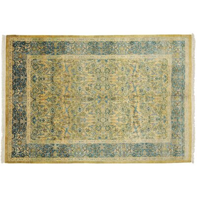 One-of-a-Kind Mogul Hand-Knotted Yellow Area Rug