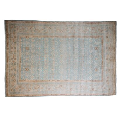 One-of-a-Kind Mogul Hand-Knotted Blue Area Rug