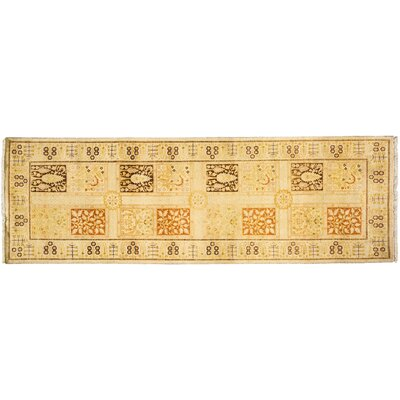 Mogul Hand-Knotted Yellow Area Rug