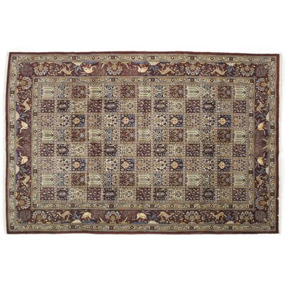 One-of-a-Kind Mood Hand-Knotted Brown Area Rug