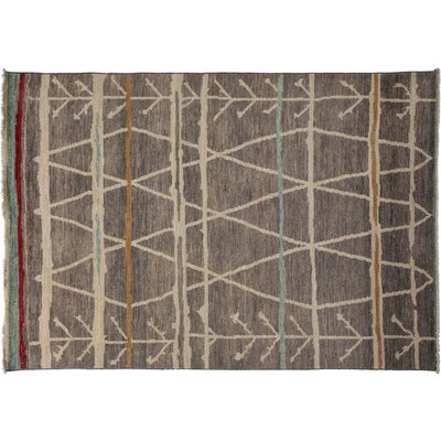 One-of-a-Kind Moroccan Hand-Knotted Gray Area Rug